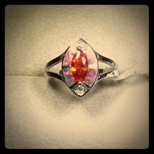 Jewelry - Orange Sapphire Sterling Silver Ring